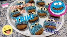 CUPCAKES Y TARTA DE TRIKI, EL MONSTRUO DE LAS GALLETAS Cupcakes, Desserts, Food, Cookies, How To Make, Tarts, Amigos, Recipes, Meal
