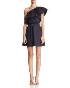 AQUA Ruffle One Shoulder Dress - 100% Exclusive