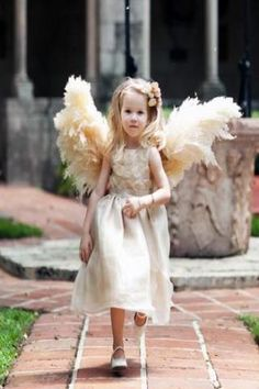 """Angel Wings"" For the flower girl Made from dried pampas."