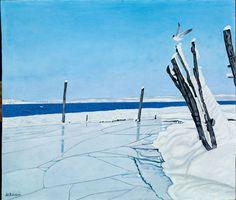 Adolf Dietrich, Winterlandschaft mit Möwen, 1931 Wind Turbine, Snow, Ice, Architecture, Design, Winter Scenery, Kunst, Switzerland, Arquitetura