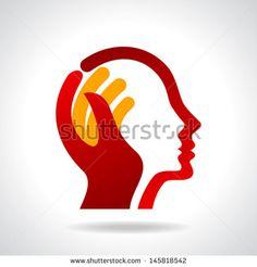 human head thinking a new idea - stock vector