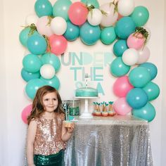 """Jessica Garvin on Instagram: """"Our Under the Sea birthday party for the sweetest little mermaid around!! Happy (almost) 4th birthday my dear Harper, we love you deeper than the ocean!!"""""""