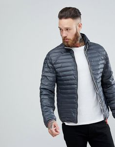 Get this Hunter s quilted jacket now! Click for more details. Worldwide  shipping. Hunter Padded Mid Layer Jacket in Grey - Grey  Jacket by Hunter 2e748cb0e9397