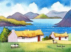 Original Watercolour Painting Connemara by Pamelajonesartstudio