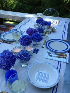 A Table in Blue