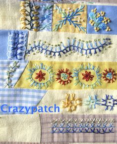 I ❤ embroidery . . . Up and down buttonhole stitch- By marie christine