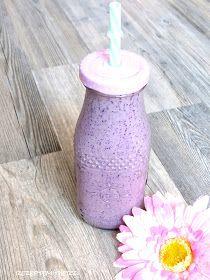 Rezepte mit Herz ♥: Blueberry Cheesecake Smoothie