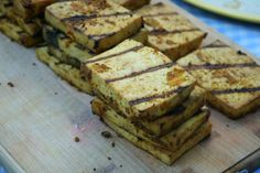 There are a lot of weird myths people have internalized about tofu. That you have to waste time pressing it first, or that you should always freeze and squeeze … Grilled Tofu, Tempeh, Delicious Dishes, Vegetarian Recipes, Grilling, Sandwiches, Frozen, Wine, Vegan