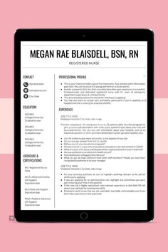 Calling all nurses! 👩🏽⚕️👨🏻⚕️ Having a résumé that stands out from the stack can make or break your next nursing career.Stand out among other applicants with a beautiful, customizable résumé template that will set you apart from the competition.Shop our collection of résumé templates today!WARNING: May cause side effects including extreme confidence, numerous interviews, and dream job offers. Don't say I didn't warn you. Nursing Resume Template, Resume Templates, Cover Letter Template, Letter Templates, All Nurses, New Nurse, Job Offers, Graduation Year, Nursing Career