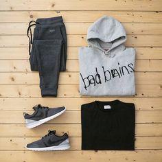 loungin' & fleece flexin' #outfitgrid #Supreme x #BadBrains hoody | #WoodWood basic tee | #RaisedByWolves dawson sweatpants 2.0 | #NikeLab rosherun nm sp  @outfitgrid @dennistodisco #rbw #supremenewyork #nike #teamroshe #teamcozy #rosherun #rosheone #techfleece #ootd #outfitoftheday #menswear #mensfashion #streetwear #fashion #outfit #highsnobiety #basementapproved #modernnotoriety #menwithstreetstyle #cozy #fashionkilla #klekttakeover #allupinit by jaybeezishangintough
