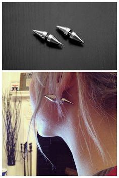 ::: OutsaPop Trashion ::: DIY double spike earrings