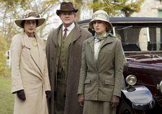 Elizabeth McGovern as Cora, Hugh Bonneville as Robert and Laura Carmichael as Lady Edith in Downton Abbey S06E02