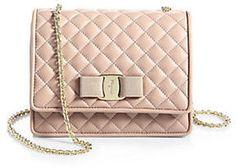 ShopStyle.com: Salvatore Ferragamo Vara Quilted Small Ginny Shoulder Bag $795.00