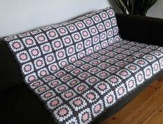 Pink Throw Blanket Pink & Grey Crochet Blanket by PhoenixSmiles