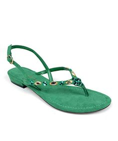 Look what I found on #zulily! Lime Tandem Sandal by ann marino #zulilyfinds