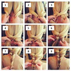 Treccia spina di pesce  #hair #treccia #fashion