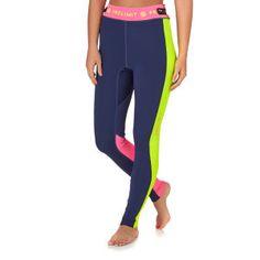 Prolimit Wetsuit Pants - Prolimit Womens SUP 1mm Neo Atlethic Wetsuit Pants - Blue/ Pink