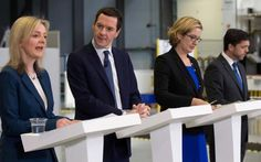 Chancellor George Osborne, second left, with (from left) his fellow Cabinet ministers Liz Truss, Amber Rudd and Stephen Crabb Cabinet Minister, Math Formulas, Stand Up, Amber, Get Back Up, Maths Formulas, Ivy