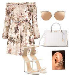 """Flower Summer Dress"" by vasilica-cor on Polyvore featuring moda, River Island, Giuseppe Zanotti, MICHAEL Michael Kors e Linda Farrow"