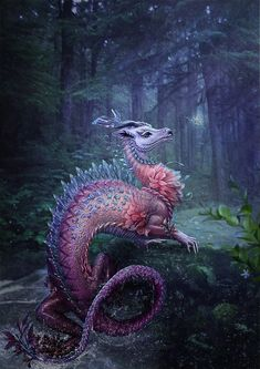 water dragon by Vasylina Holodilina (DeviantArt)