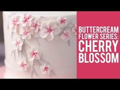 How to Make Buttercream Cherry Blossom Flowers - YouTube