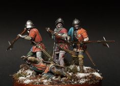 War of the Roses. English infantry by SergeyPopovichenko · Putty&Paint Chinese Figurines, Miniature Figurines, Medieval Knight, Medieval Armor, Renaissance, Louis Daguerre, Wars Of The Roses, Plantagenet, Military Diorama