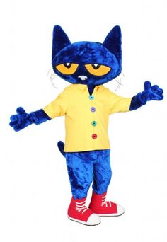 Pete The Cat Mascot Costume Cosplay Carnival Character Christmas Fancy Dress NEW Costume Birthday Parties, Adult Birthday Party, Animal Birthday, 9th Birthday, Birthday Outfits, Cartoon Mascot Costumes, Cat Costumes, Adult Costumes, Newborn Costumes