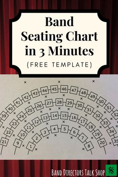 Band Seating Chart in 3 Minutes (Free Template) - Band Directors Talk Shop Music Lesson Plans, Music Lessons, Band Problems, Flute Problems, Band Rooms, Seating Chart Template, Seating Charts, Middle School Music, Instruments