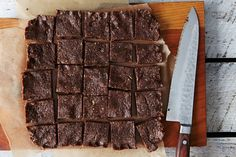 Raw bars with pecans, chocolate, dates, and unsweetened coconut from Food52