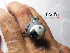 Totoro My Neighbor Totoro Jewelry Adjustable Ring Kawaii by TiViBi