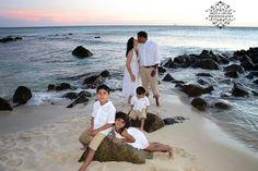 Family moments at Arashi Beach, Aruba