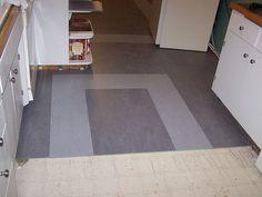 Marmoleum ideas : floor during (halfway through the kitchen) by TheDamnМushroom, via Flickr