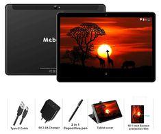 Tablette Tactile 10 Pouces Android 9.0 Pie MEBERRY - 64Go, 4Go de RAM Tablettes 4G LTE Dual SIM,GPS, WiFi, Bluetooth, Type-c - 5.0+8.0 MP Caméra - Noir: Amazon.fr: Informatique