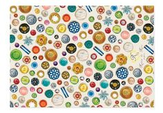 Button wrapping paper!!! Love it, want it!!!