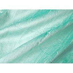 Brilliant Aqua Turquoise Iridescent Dupioni Silk Fabric 13 x 18