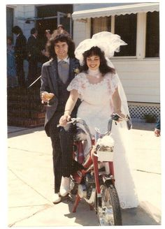 Ritchie Blackmore and Amy Rothman Wedding May 1981, the bike was a wedding present from Bruce Payne.