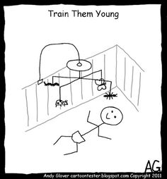 Cartoon Tester: Train Them Young