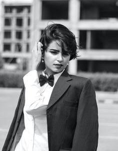 grayscale photography of Lily Collins in suit jacket Photo by fatimaakram on Unsplash Image Page 2519