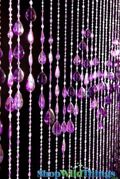 Big Teardrops Purple Beaded Curtains