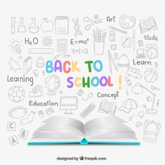 Free vector Sketchy back to school background #12815