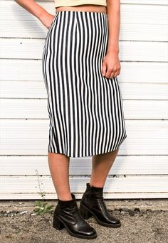 060cfc9df915 Vintage Wide Stripe Skirt Wide Stripes