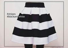#stripes #black&white @sapioconceptstore wwe.sapiostore.ro Stylish Outfits, Wwe, Cheer Skirts, Personal Style, Black White, Feminine, Stripes, Glamour, Elegant
