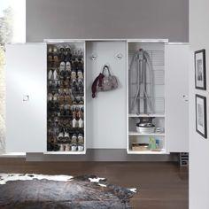 Evolution Salvaspazio - DIOTTI A&F Italian Furniture and Interior Design Diy Kitchen Storage, Storage Cabinets, Ironing Station, Barbershop Design, Shoe Shelves, Modern Hallway, Hallway Furniture, Iron Board, Italian Furniture