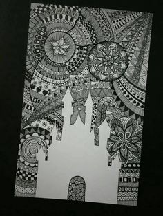 zentangle art at DuckDuckGo Doodle Art Drawing, Zentangle Drawings, Mandala Drawing, Zentangle Patterns, Art Drawings Sketches, Disney Drawings, Mandala Doodle, Zentangles, Mandala Art Lesson