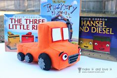 Sew this cool truck to go with many books!