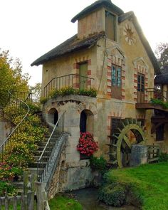 Hamlet of Marie Antoinette, Versailles, France by catalina
