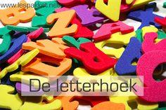 Een letterhoek in de kleuterklas, waar de kinderen kunnen leren met en over letters. Je krijgt suggesties voor materialen en activiteiten! - Lespakket
