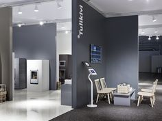 #tulikivi #messut #habitare #habitare2014 #interior #fireplace #grey Bathroom Lighting, Conference Room, Mirror, Grey, Interior, Table, Furniture, Home Decor, Bathroom Light Fittings