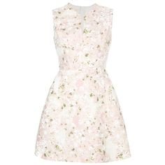 GIAMBATTISTA VALLI printed dress ($1,730) ❤ liked on Polyvore featuring dresses, vestidos, giambattista valli, sleeveless dress, pink dress, straight dresses, floral day dress and flower printed dress