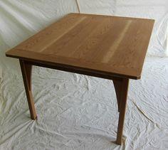 Wood dining table 'gothic light' handmade by davidtowers.biz